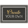 "Mosaic ""46th Street with Gold Script"" Customized Vinyl Mat"