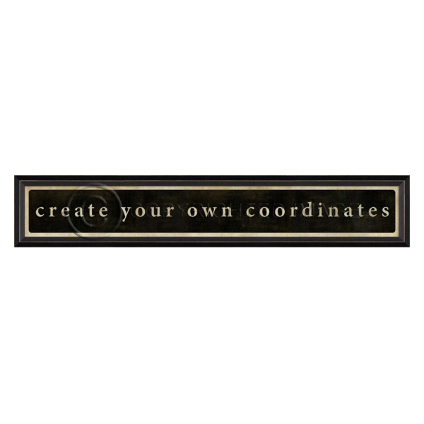 Create Your Own Coordinates Wall Art