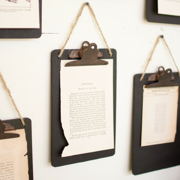 Black Clipboard Photo/Note Holder