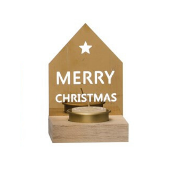 House Shaped Tealight Holder - Merry Christmas