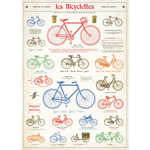 Cavallini Les Bicyclettes Wrapping Paper