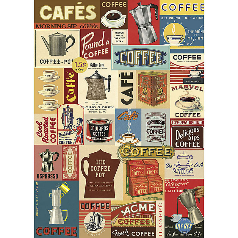 Cavallini Vintage Poster Wrapping Paper Cheap Wall Art Wall Decor Dorm Room Art Coffee Coffee Shop Coffee House Kitchen Art Vintage Advertisements