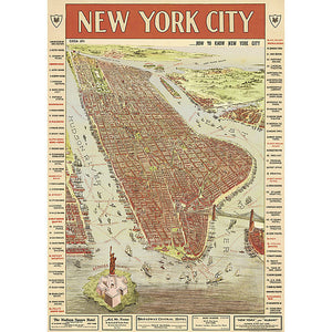 Cavallini New York City Map III Wrapping Paper