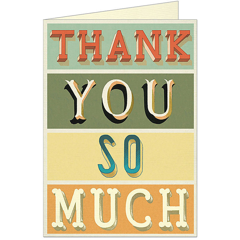 "Cavallini ""Thank You So Much"" Greeting Card"