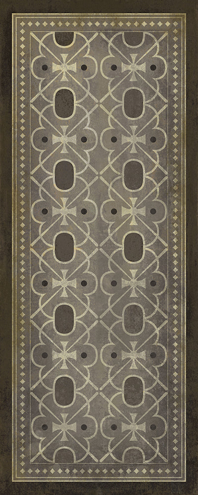 Lehigh Valley Flooring Vintage Vinyl Floorcloth Runner Kid Friendly Pet Friendly Indoor Outdoor Safe Rug