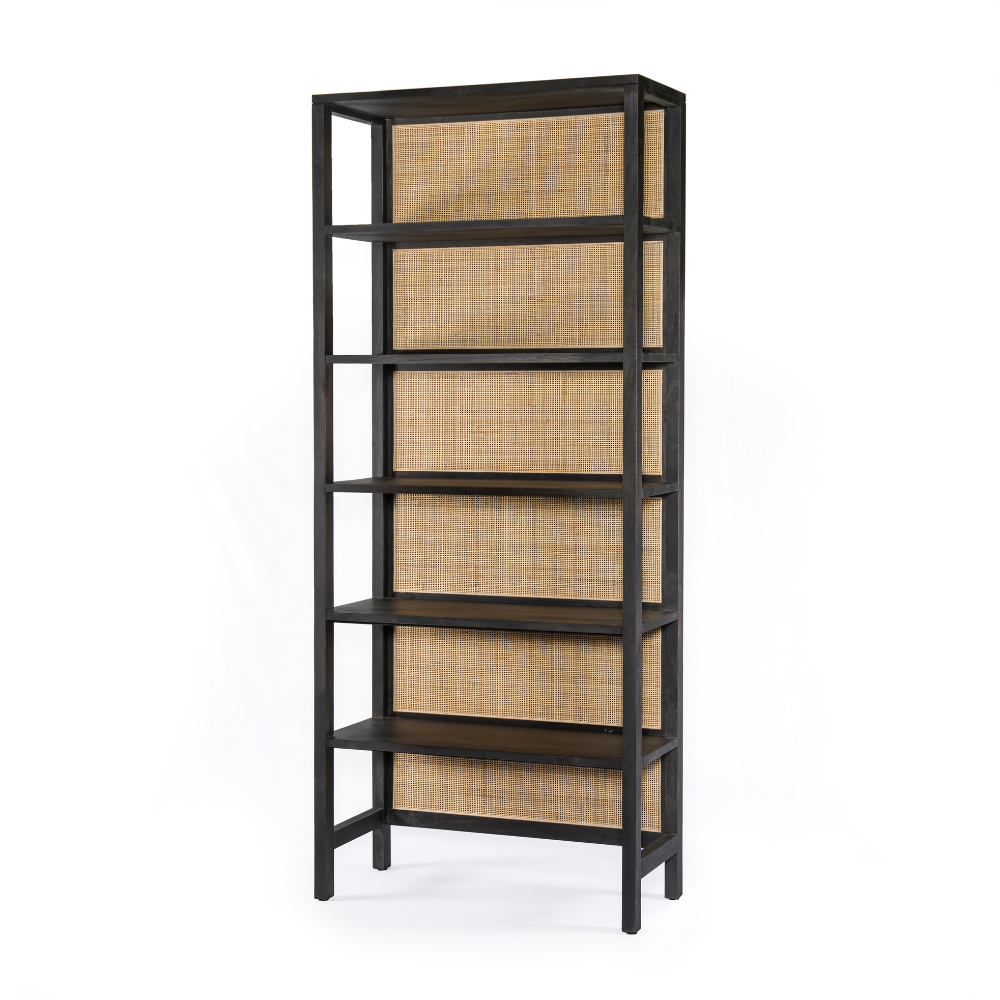 Caprice Large Bookshelf-Black Wash Mango