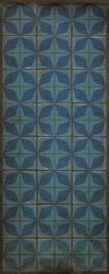 "Pattern 54 ""Blue Moon"" Vinyl Floorcloth"