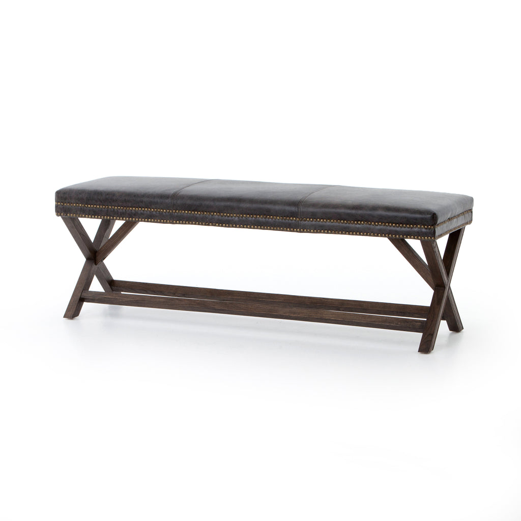 Elyse Leather Bench