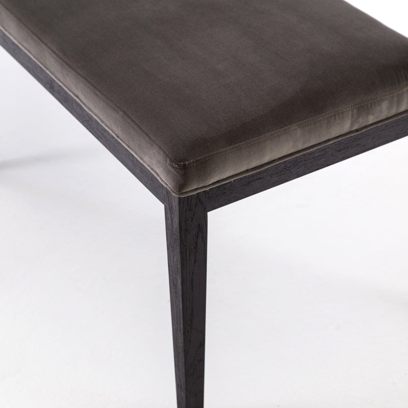 Sara Dining Bench-Washed Velvet Grey