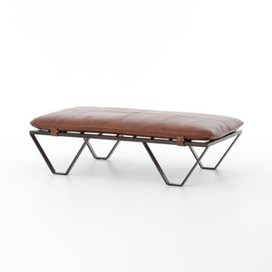 Darrow Top-Grain Leather Ottoman