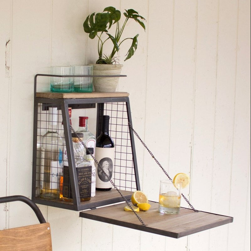 Frankie Wall Bar w/ Fold-Down Shelf