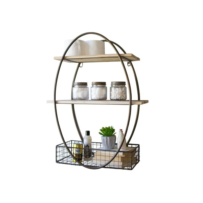 Frankie Oval Wall Shelf w/ Basket