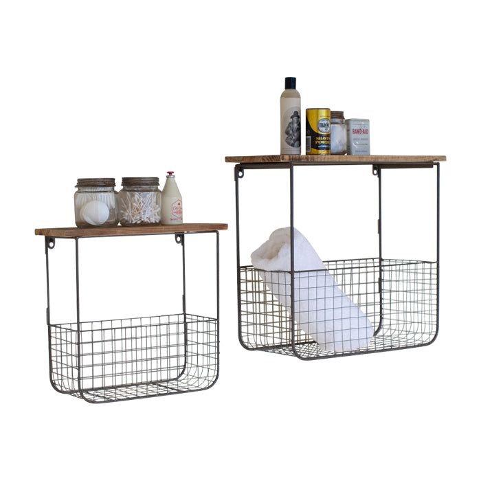 Frankie Basket Shelves, Set of 2