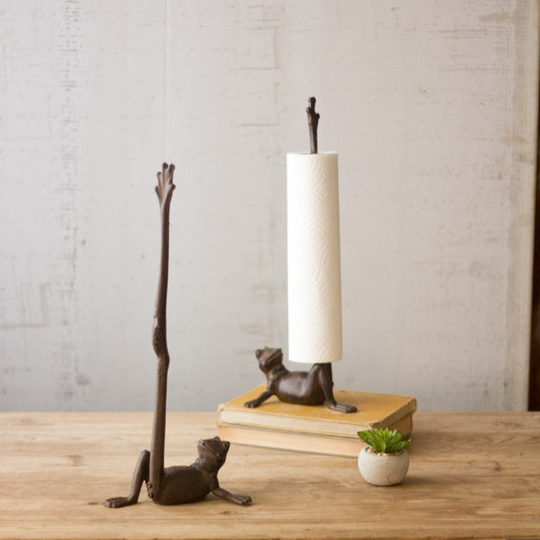 Frog Paper Towel Holder