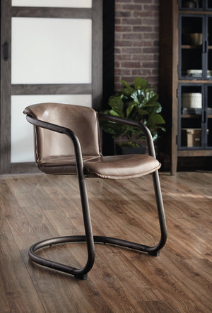 Nisky Leather Dining Chair