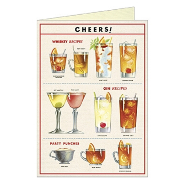 "Cavallini ""Cheers"" Greeting Card"
