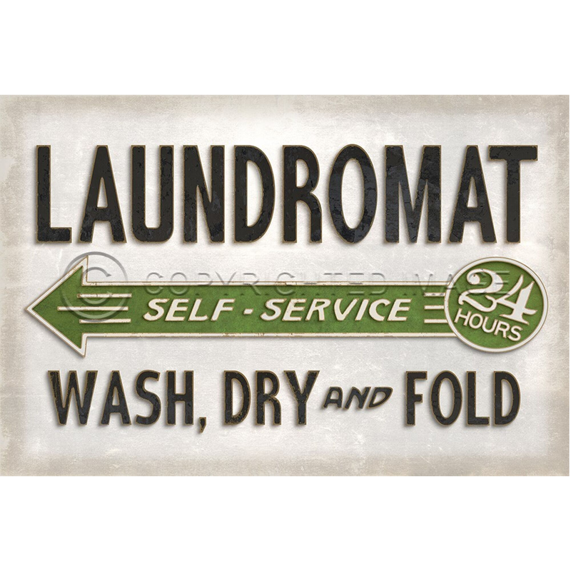 """Laundromat"" Vinyl Floorcloth"