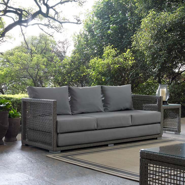 Elijah Outdoor Patio Wicker Rattan Sofa