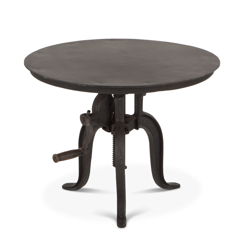 Hoover Mason Black Iron Side Table