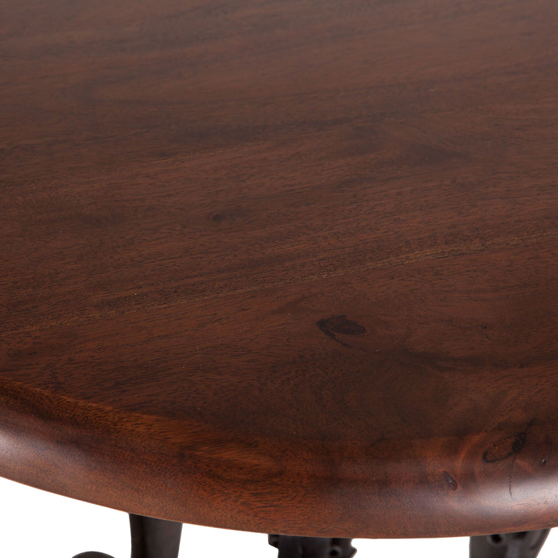 Hoover Mason Walnut Crank Side Table