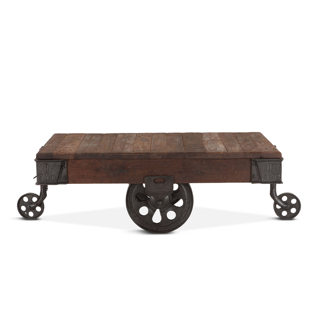 Hoover Mason Factory Cart Coffee Table