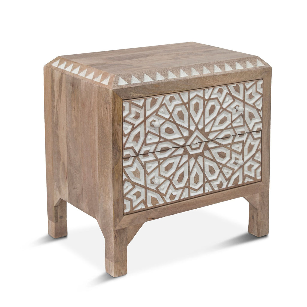 Bohemia Carved Nightstand