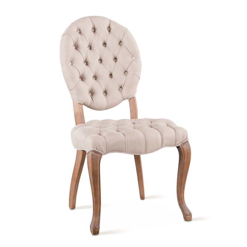Penelope Tufted Linen Dining Chair