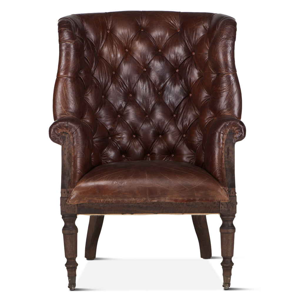 Welsch Cigar Leather Deconstructed Chair
