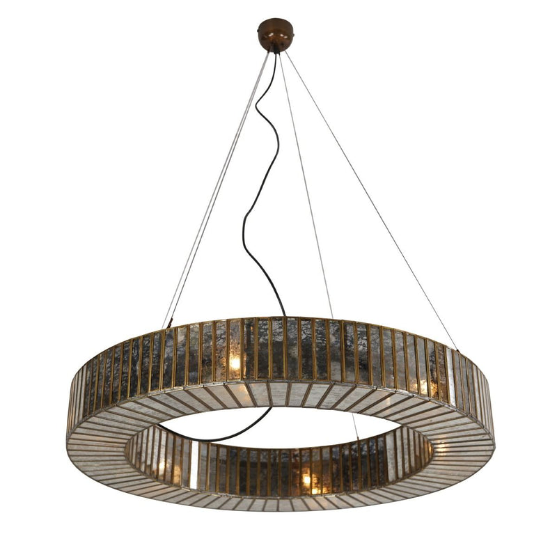 Halo Mercury Glass Chandelier