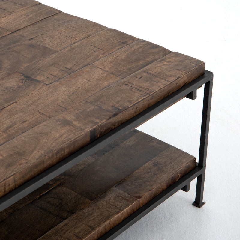 Simien Square Coffee Table-Gunmetal