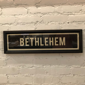 Bethlehem Street Sign Wall Art