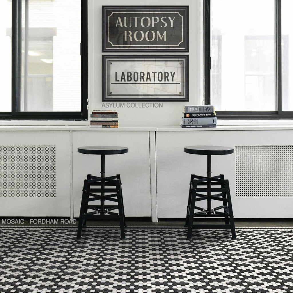 "Mosaic D ""Fordham Road"" Vinyl Floorcloth"
