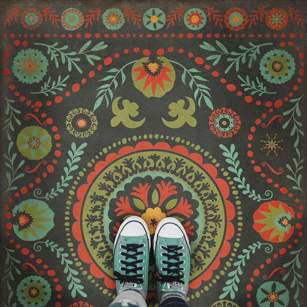 "Pattern 38 ""State of Mind"" Vinyl Floorcloth"