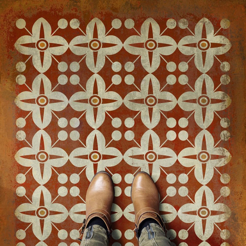 "Pattern 03 ""The Poppy Field"" Vinyl Floorcloth"