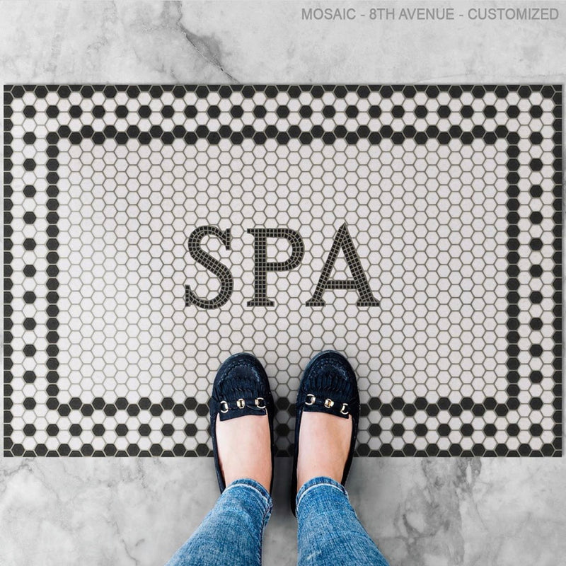 "Mosaic ""8th Avenue"" Customized Vinyl Welcome Mat"