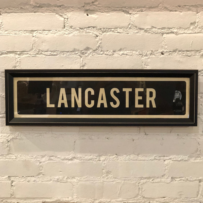 Lancaster Street Sign Wall Art