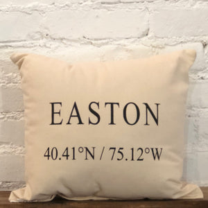 Easton Coordinates Pillow