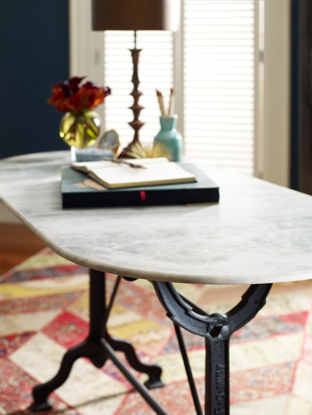Ava Marble Top Writing Table