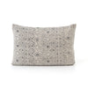 Faded Grey Print Lumbar Pillow