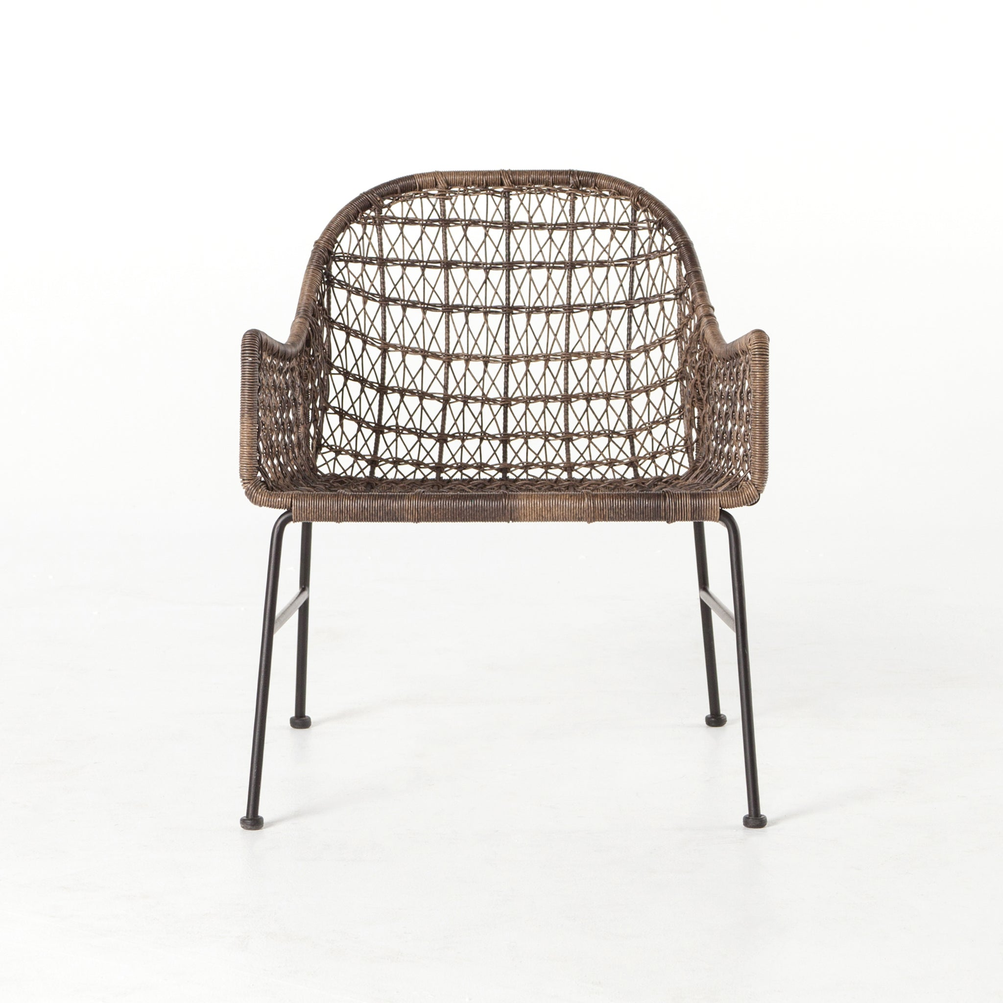 silver brushed metal chair woven. Bandera Outdoor Woven Club Chair Silver Brushed Metal