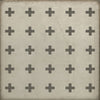 Floor Cloth Floorcloth Vinyl Vintage Greek Cross Kid Safe Pet Friendly Indoor Outdoor Area Rug