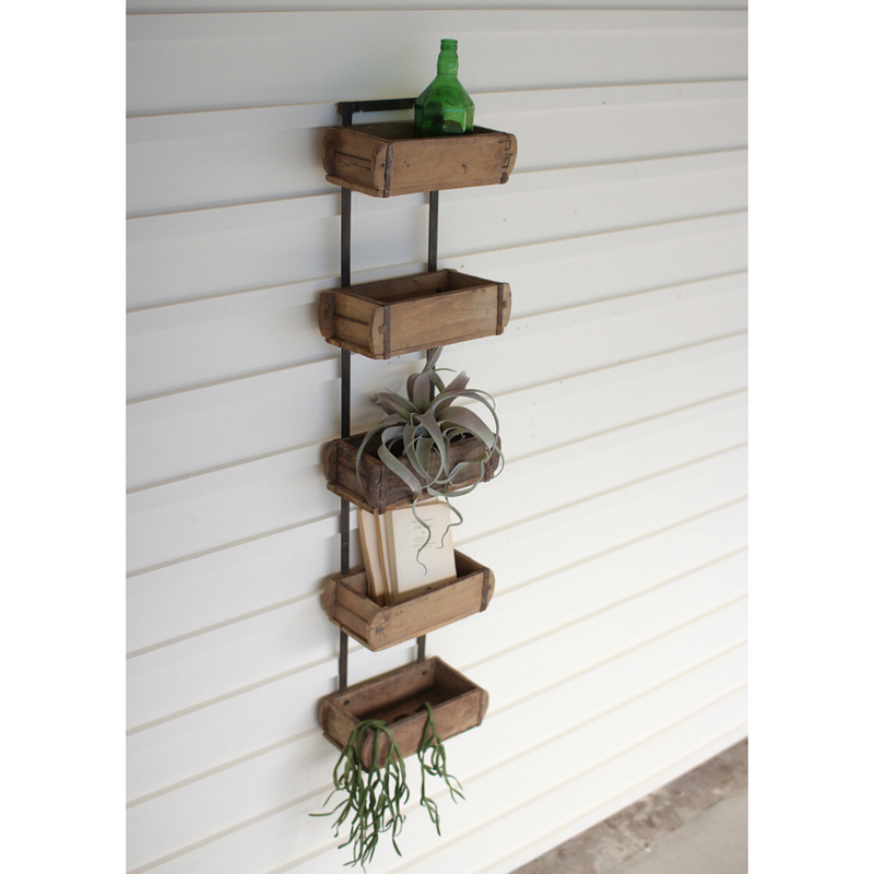 Reclaimed Antique Brick Mold Wall Rack