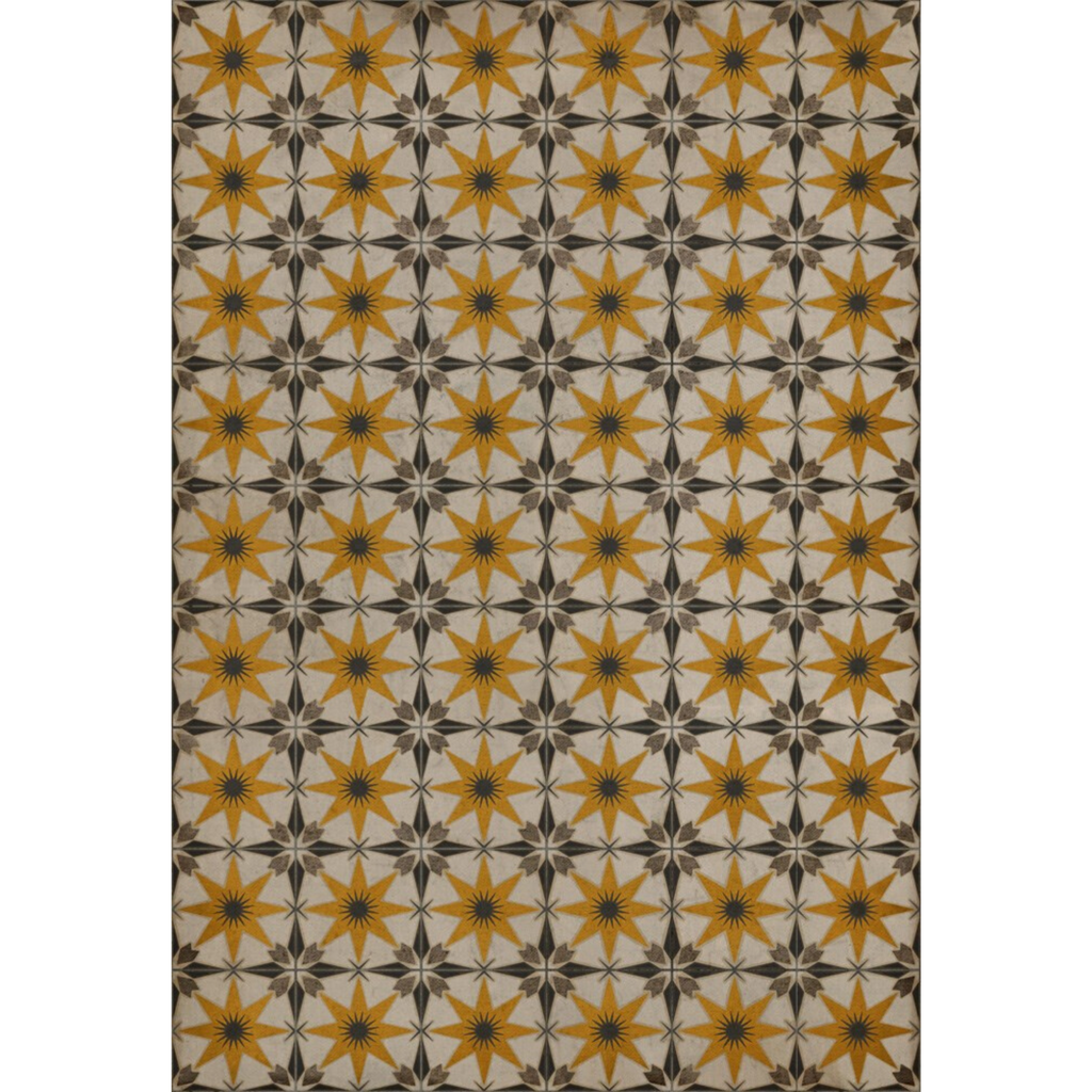 "Pattern 72 ""Raconteur"" Vinyl Floorcloth"