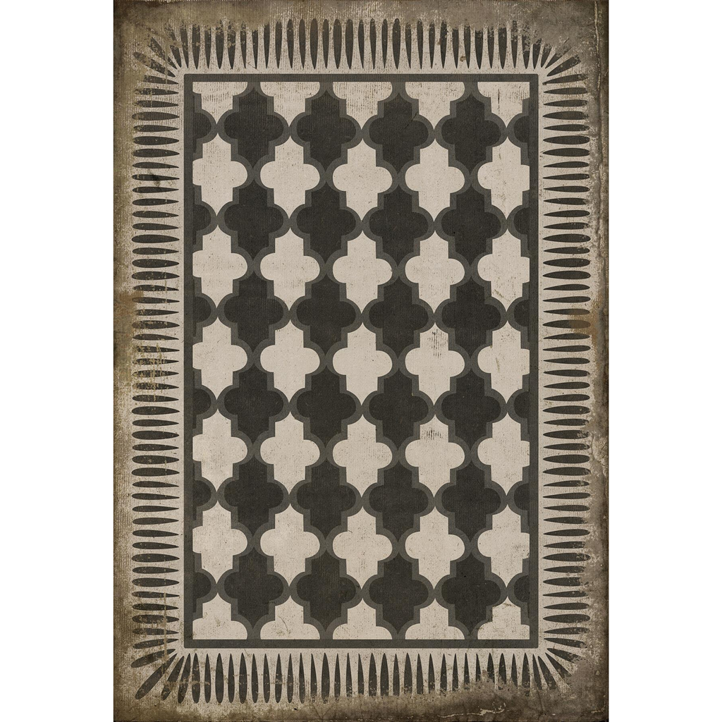 "Pattern 10 ""Open Sesame"" Vinyl Floorcloth"