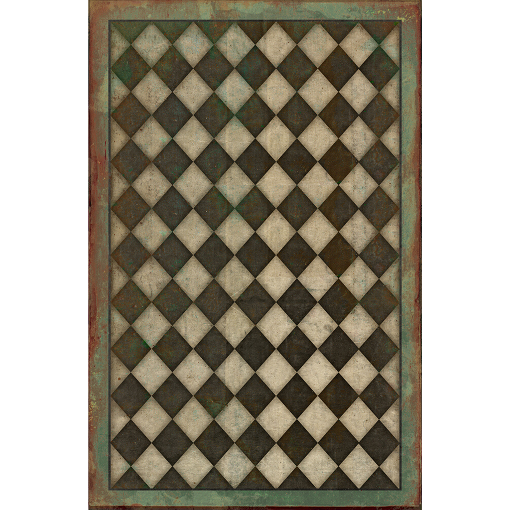 "Pattern 09 ""Checkmate"" Vinyl Floorcloth"