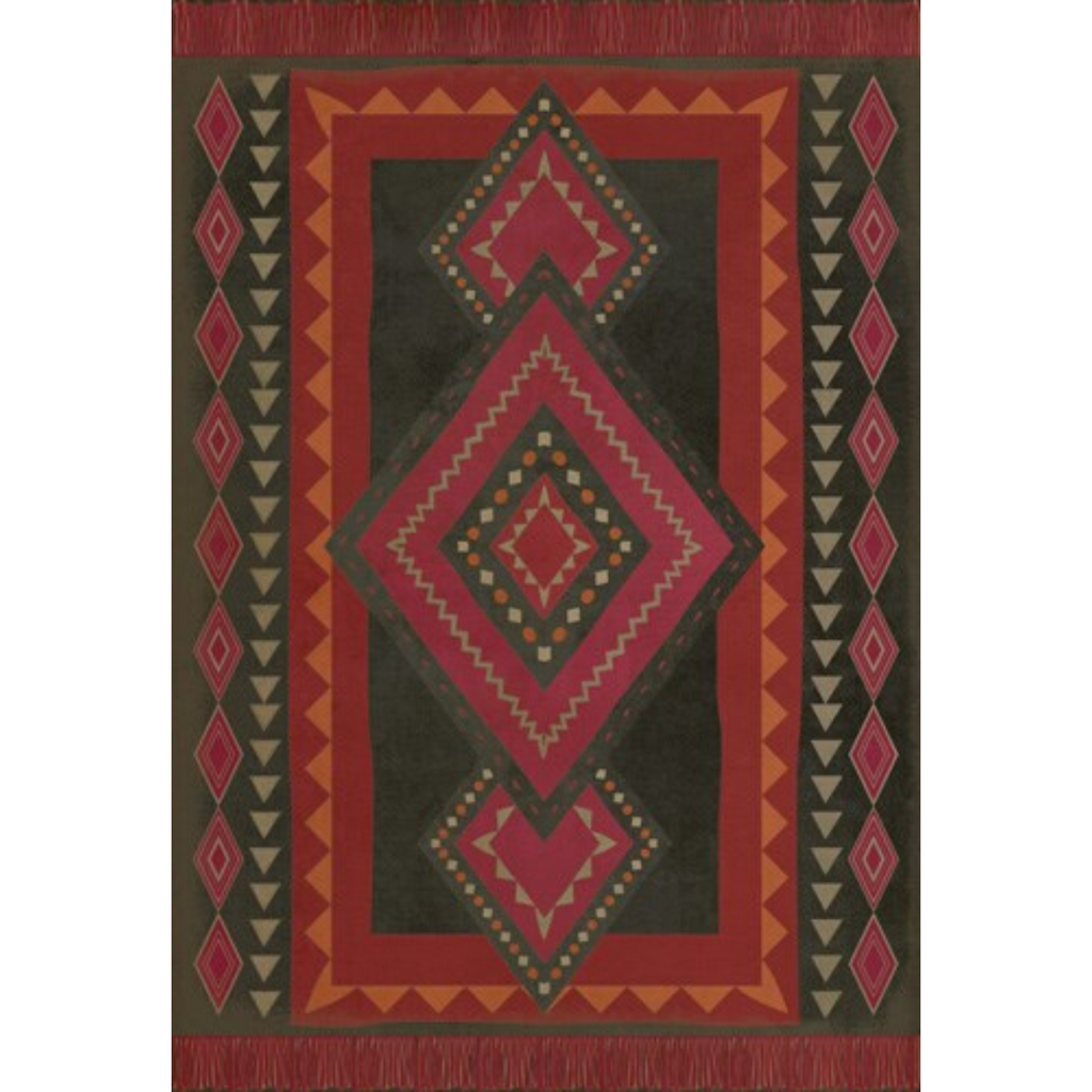 "Pattern 61 ""Gypsy"" Vinyl Floorcloth"