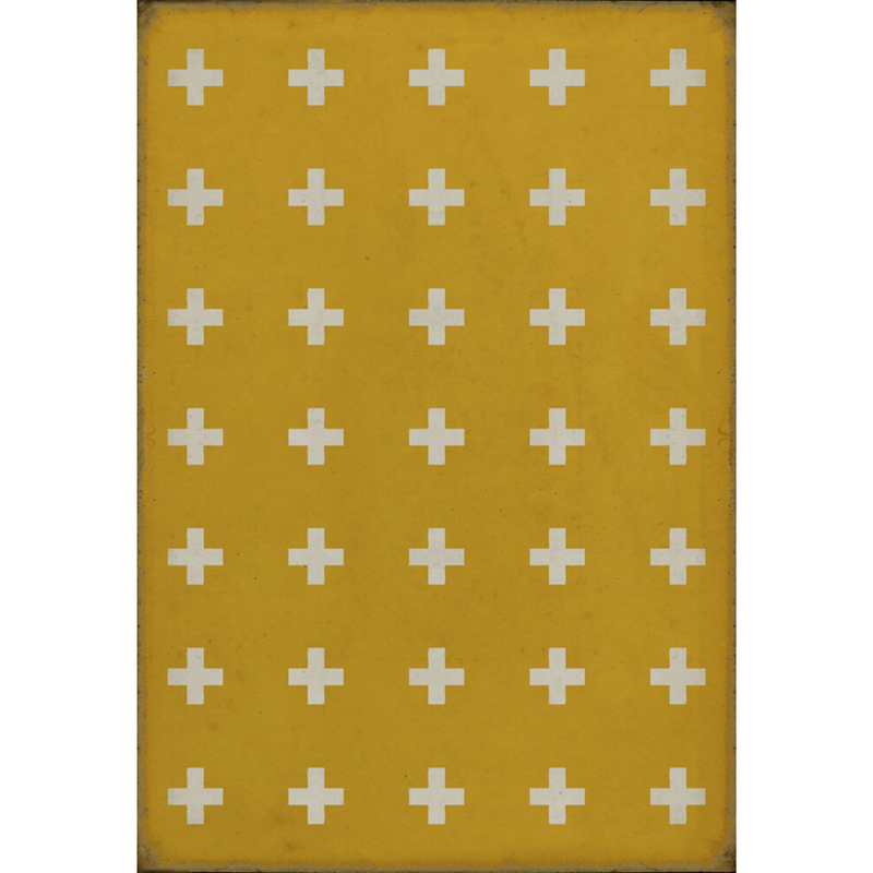 "Pattern 24 ""Lemnos"" Vinyl Floorcloth"