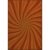 "Pattern 59 ""Fire Whirl"" Vinyl Floorcloth"