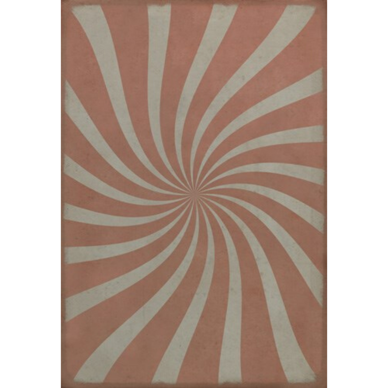 "Pattern 59 ""Cotton Candy"" Vinyl Floorcloth"