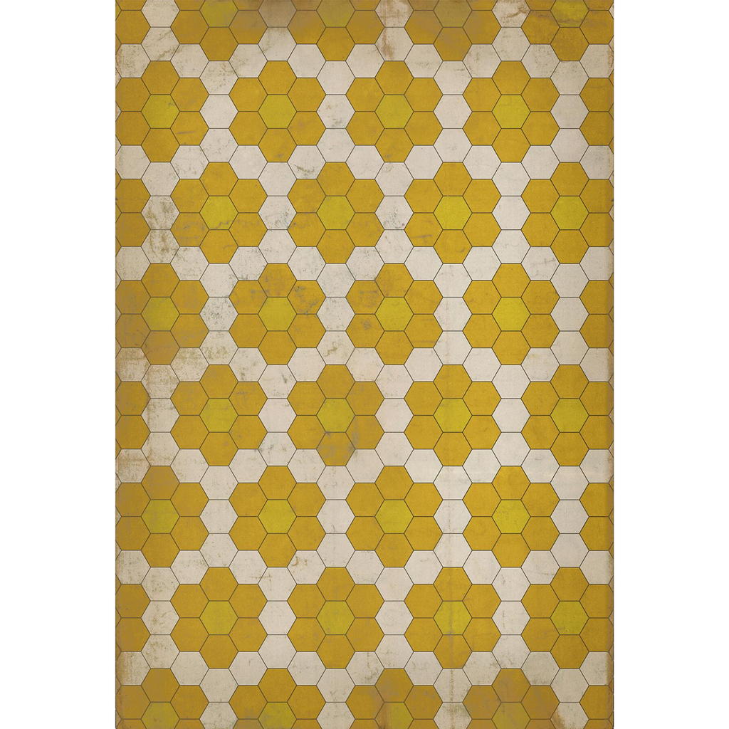"Pattern 02 ""The Bee's Knees"" Vinyl Floorcloth"